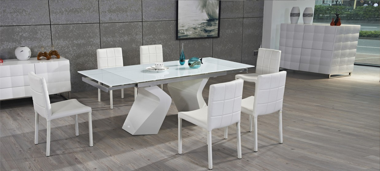 Offres discount sur nos tables design for Table blanche extensible