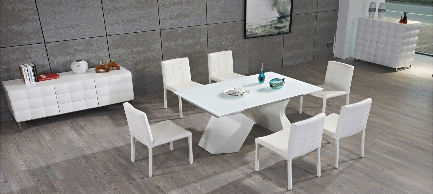 Offres discount sur nos tables design for Table a manger blanche extensible