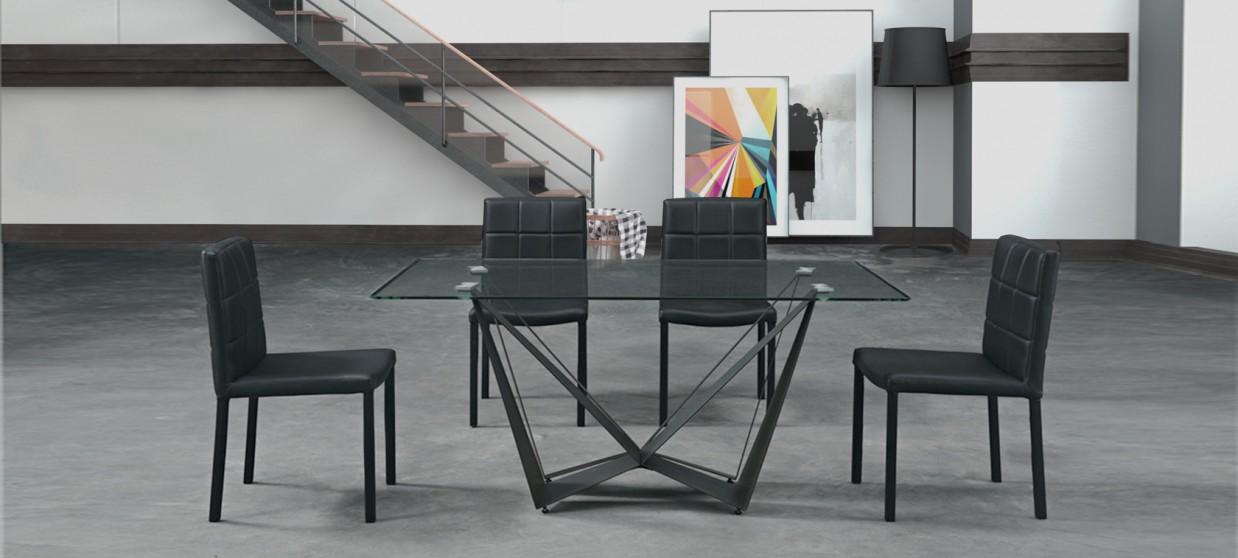 Table à manger design grise - Sunset