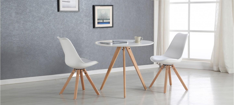 table ronde blanche design et pas cher. Black Bedroom Furniture Sets. Home Design Ideas