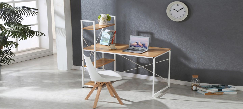 bureau en bois bureau industriel. Black Bedroom Furniture Sets. Home Design Ideas