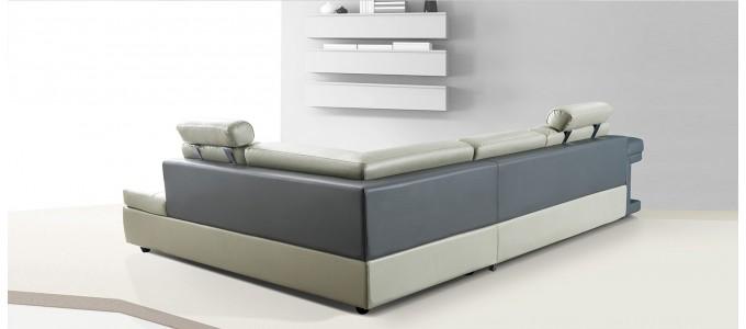 Canap d 39 angle designetsamaison designetsamaison - Canape d angle cuir beige ...