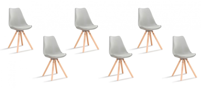 lot de 6 chaises scandinaves grises helsinki designetsamaison. Black Bedroom Furniture Sets. Home Design Ideas