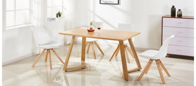 Table à manger coloris chêne 120cm - Trevi