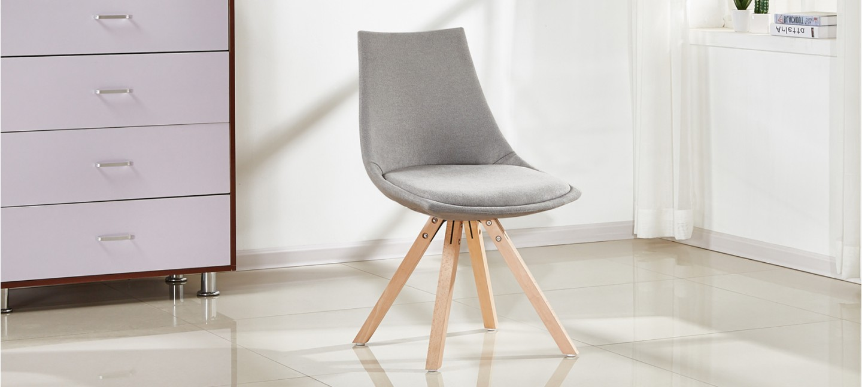 chaises scandinave en tissu gris prix usine. Black Bedroom Furniture Sets. Home Design Ideas