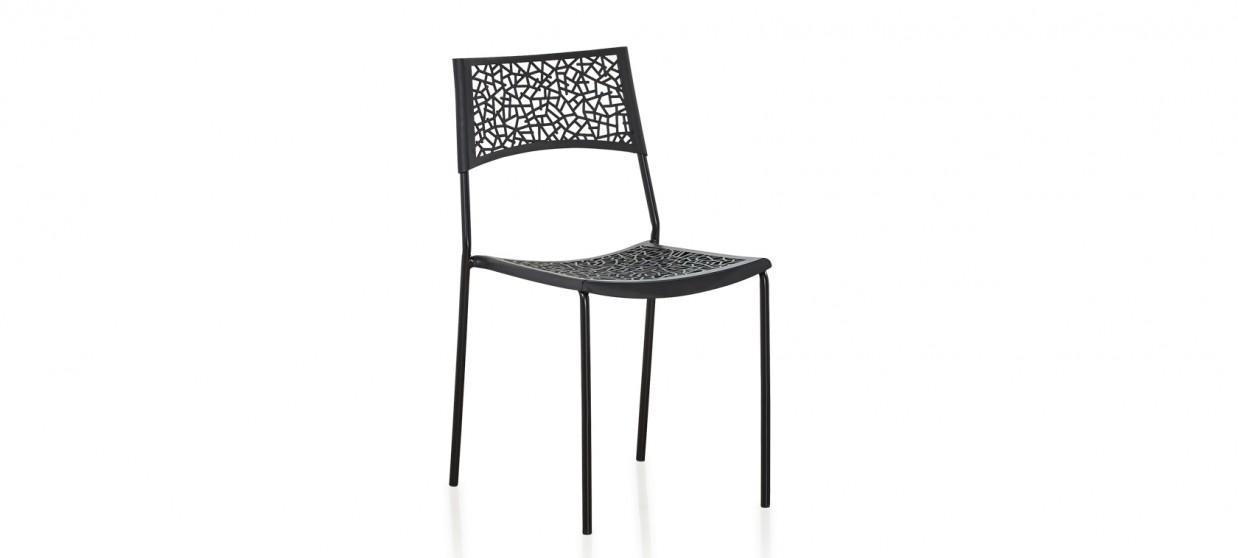 Chaise extérieur noire - Berlin
