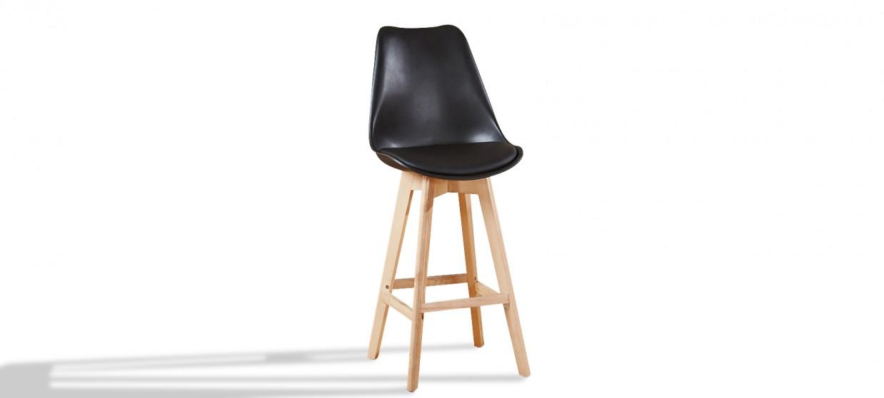 chaise haute scandinave noir discount - Chaises Hautes Scandinaves