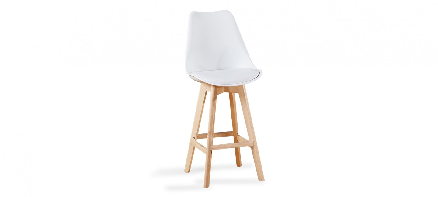 tabouret scandinave blanc pieds bois prix bas garantis. Black Bedroom Furniture Sets. Home Design Ideas
