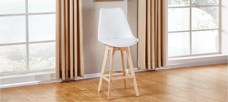 tabouret scandinave blanc pieds bois prix bas garantis. Black Bedroom Furniture Sets. Home Design Ideas