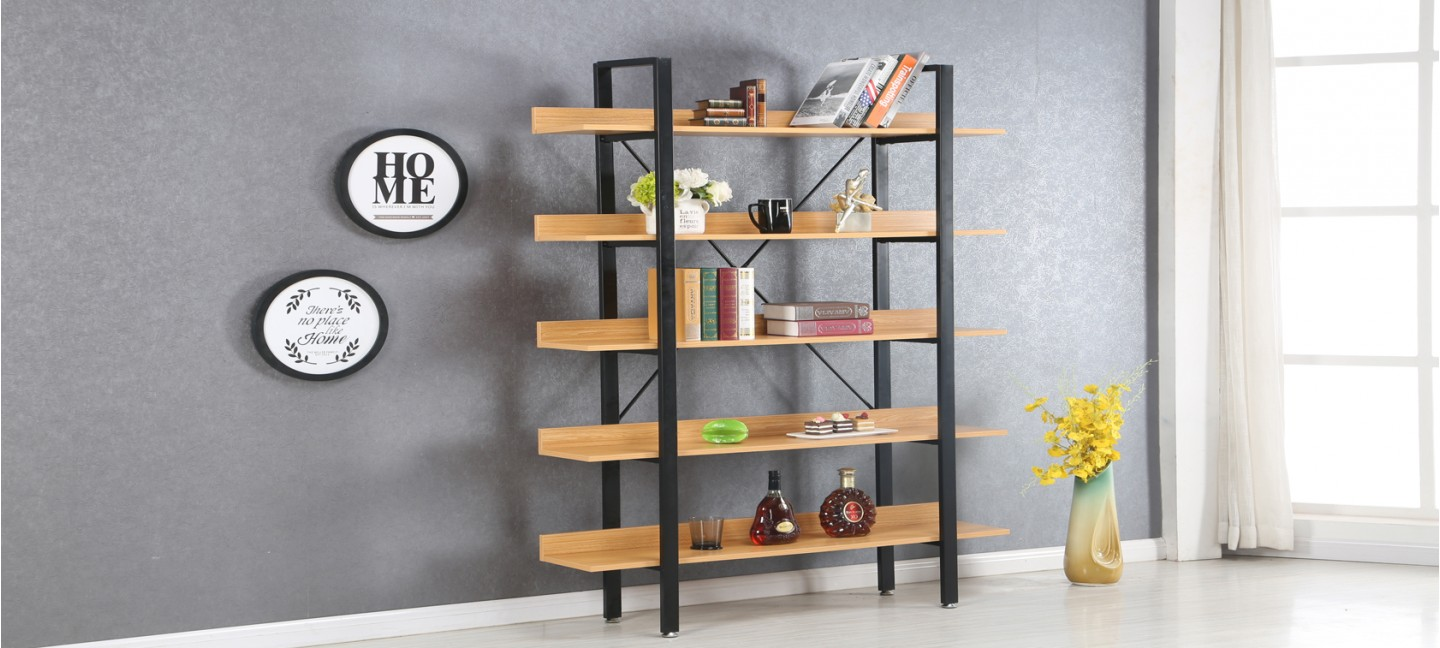 etagere style industriel. Black Bedroom Furniture Sets. Home Design Ideas