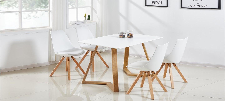 Table À Manger Nordique table à manger scandinave blanche 120cm - trevi