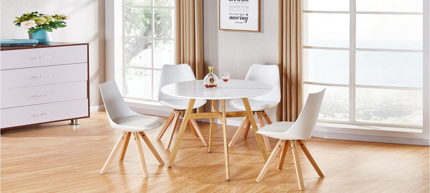 Offres discount tables manger - Table a manger ronde blanche ...