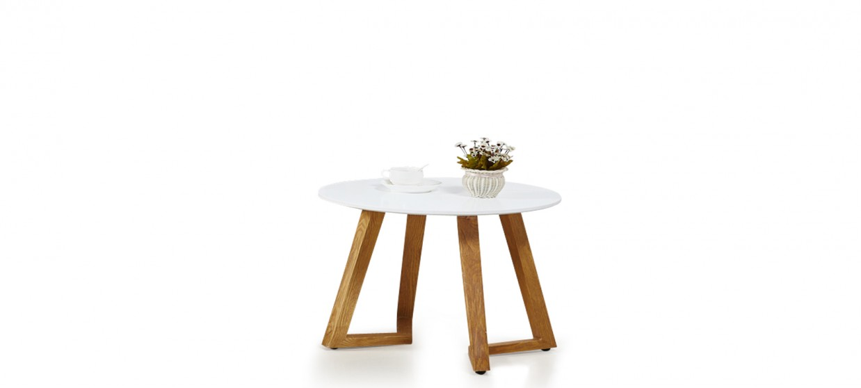 Table basse scandinave ronde blanche - Ygg