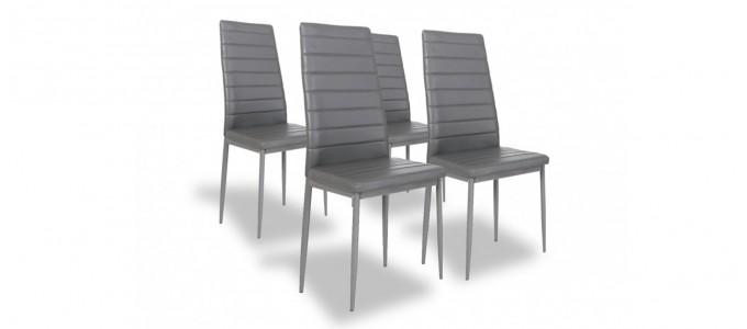 Lot de 4 chaises grises - Lena
