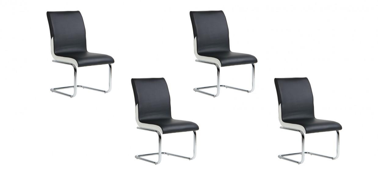 Lot de 4 chaises de salle à manger - Ottawa