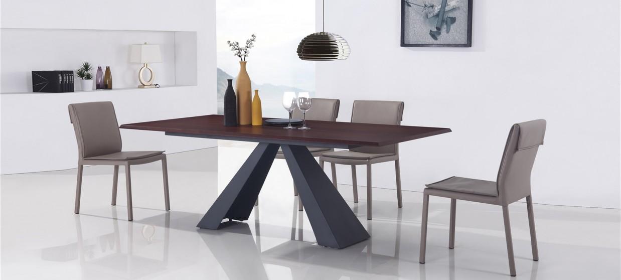 Tables manger bois et m tal prix fous - Table salle a manger design ...
