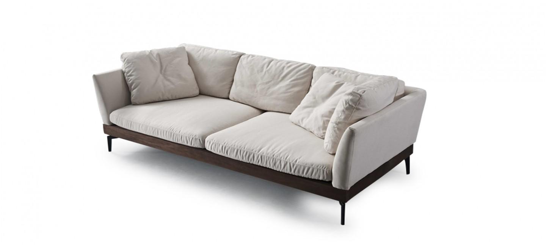 Canap design en tissu beige livr sous 48h - Canape 3 places beige ...