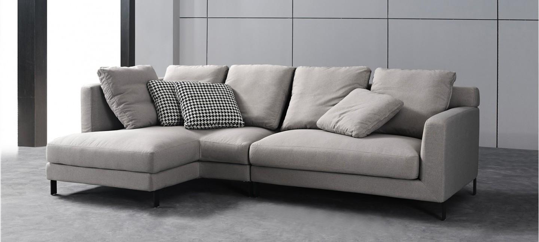 Canap d 39 angle tissu gris au meilleur prix - Renover un canape en tissu ...