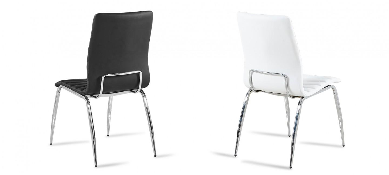 lot de 6 chaises matelass es noires design. Black Bedroom Furniture Sets. Home Design Ideas