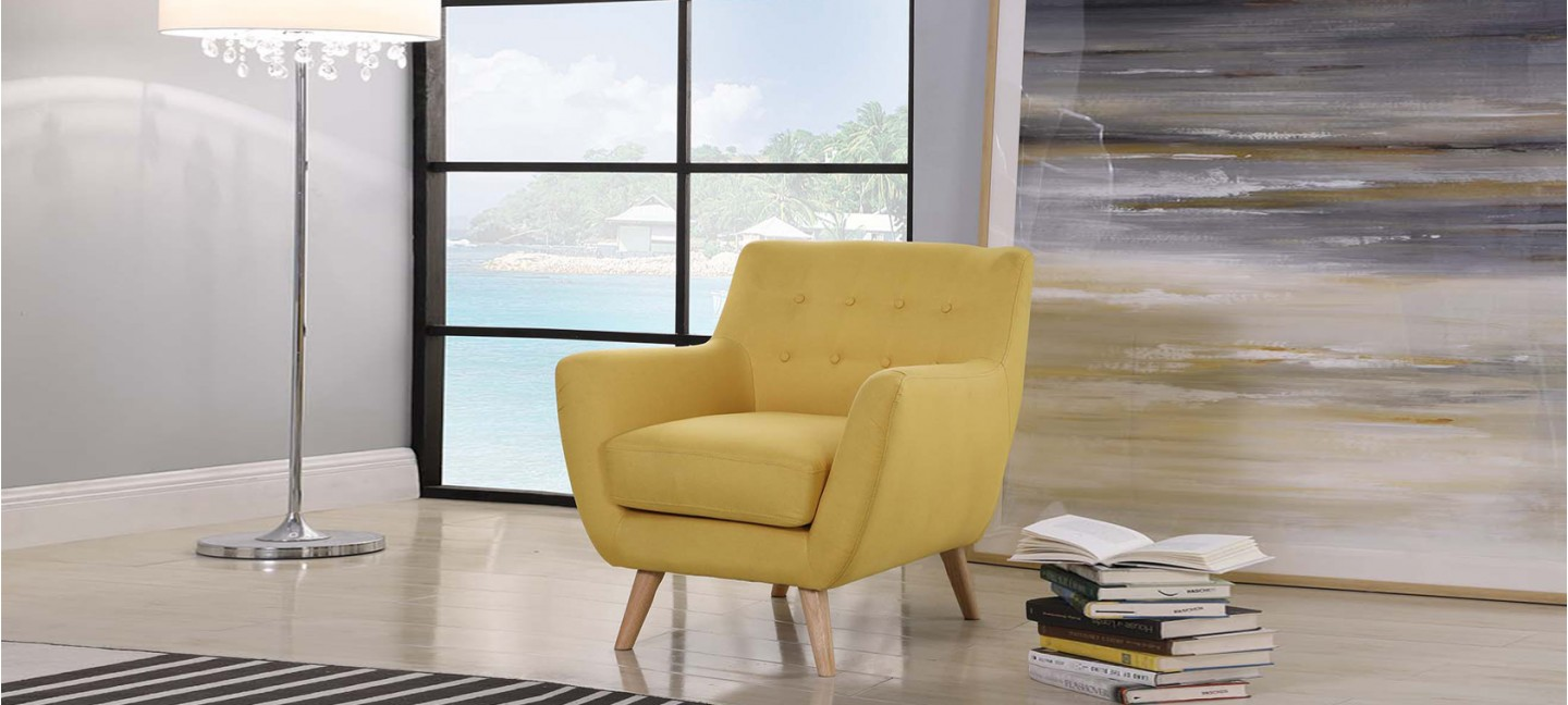 fauteuil scandinave jaune moutarde prix d 39 usine. Black Bedroom Furniture Sets. Home Design Ideas