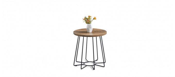Table basse ronde en bois - Nova