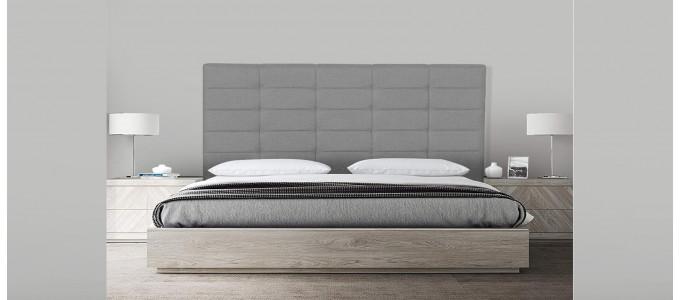 Tête de lit capitonnée gris 150 cm - Confort