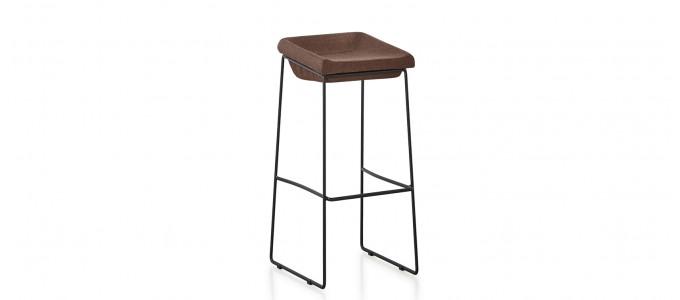 Chaise haute en tissu marron - Udinese
