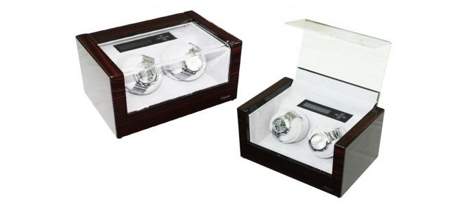 Boite à montres à remontoir automatique couleur ébène