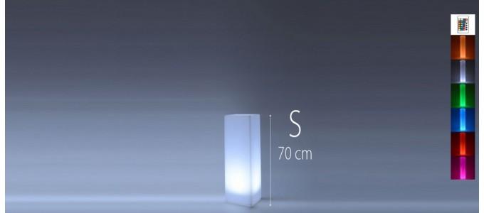 Colonne lumineuse à LED carrée 70 cm multicolore