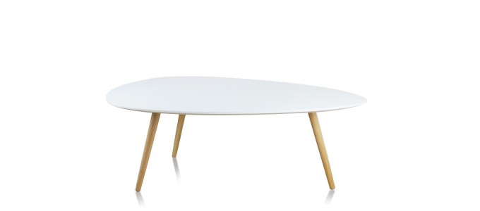 Table basse scandinave blanche - Pristina