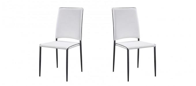 Chaise salle à manger blanche tudelia