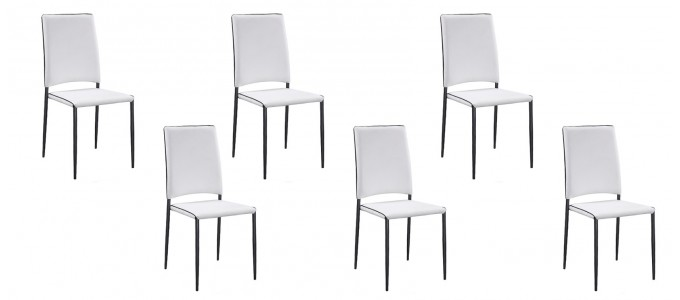 Lot De 6 Chaises Design Blanches