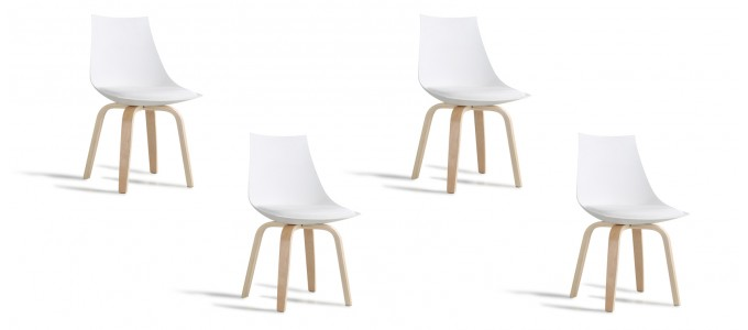 Lot de 4 chaises blanches - Nicosie