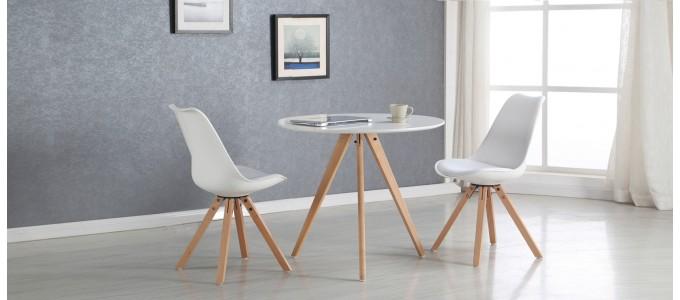 Table à manger scandinave blanche 100cm - Oslo