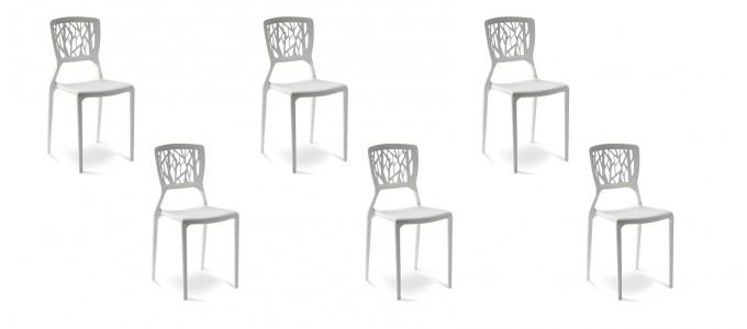 Lot de 6 chaises discount blanches - Verdi