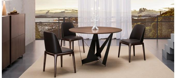 Table à manger ronde en bois - Antas