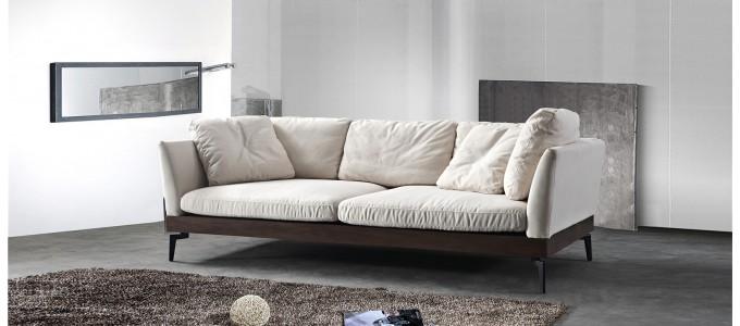 Canapé 3 places en tissu beige - Spirit