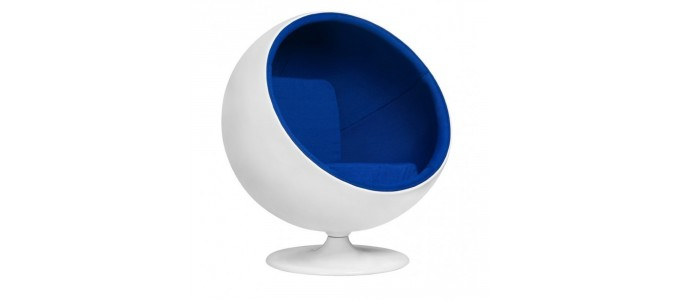Fauteuil design en velours bleu - Boule ball chair