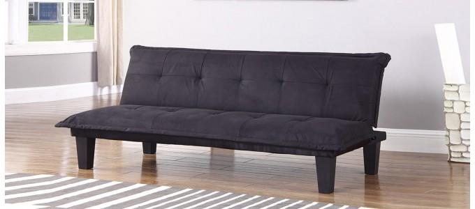 Canapé Clic Clac 3 places en tissu noir - Sepik