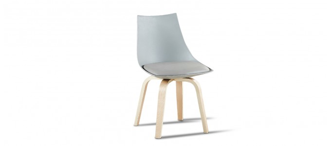 Chaise scandinave grise - Nicosie