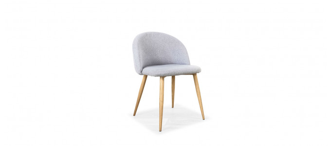 Chaise scandinave grise - Rossi