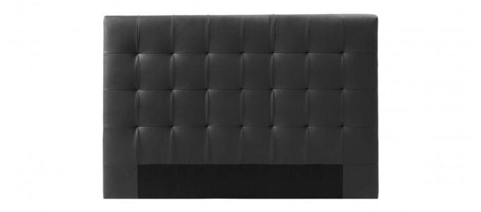 Tête de lit capitonnée noire 150cm - Confort